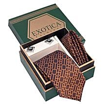 Blue N Brown Tie Set: Gifts for Clients