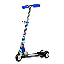 Blue Ultra Durable Big Wheel Scooter:
