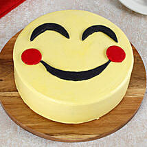 Blush Emoji Cake: Birthday Cakes for Kids