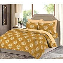 Bombay Dyeing Yellow Cotton Double Bed Sheet: Home Decor
