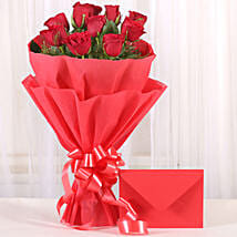 Bouquet N Greeting Card: Roses for Wife