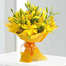 Bright Yellow Asiatic Lilies: Flowers to Gwalior