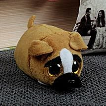 Brown N White Dog: Soft Toys Gifts