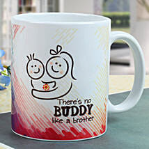Buddy Brother Mug: Send Rakhi to Rajkot