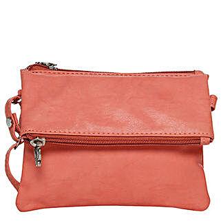Butterflies Classy Dark Peach Sling Bag: Handbags and Wallets Gifts