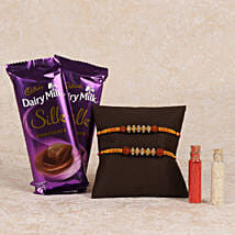 Cadbury Silk And Rakhi Combo: Send Rakhi to Jaipur