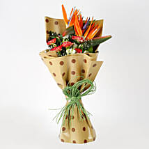 Carnations Orange Bird of Paradise Bouquet: Flowers for Anniversary