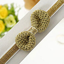 Charming Gold Toned Hairband: Fashion Accessories