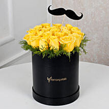 Cheerful Yellow Roses For Him: Gifts For Fathers Day From Daughter