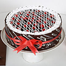 Chocolate Cherry Cake: Send Wedding Cakes to Indore