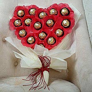 Chocolate Heart Bouquet: Gift for Boyfriend