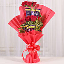Chocolate Rose Bouquet: Valentine Flowers Gandhinagar
