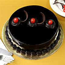 Chocolate Truffle Cream Cake: Midnight Delivery Gifts