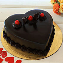 Chocolate Truffle Heart Cake: Gifts for Husband