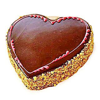 Chocolaty Heart Cake: Romantic Heart Shaped Cakes