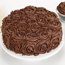 Chocolaty Rose Cake: Cake Delivery in Coimbatore