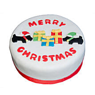 Christmas Celebrations Cake: Send Christmas Gifts to Mumbai