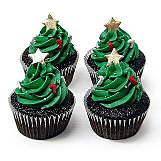 Christmas Tree Cupcakes: Gifts for Christmas