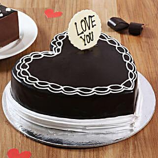 Classic Heart Shaped Chocolate Cake: Valentine Chocolate Cake
