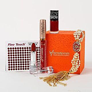 Classy Ferns N Petals Wooden Gift Cosmetics Box: Send Karwa Chauth Gift Hampers