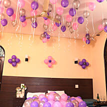 Colorful Balloons Decor Pink Purple & Silver: Hyderabad gifts