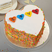 Colourful Love Cake: Send Heart Shaped Cakes to Indore