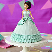 Cool Blue Barbie Cake:
