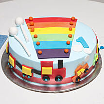 Cool Train First Birthday Cake: Send Mango Cakes to Gurgaon