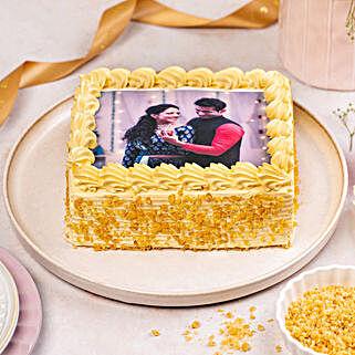 Crunchy Butterscotch Photo Cake: Send Butterscotch Cakes