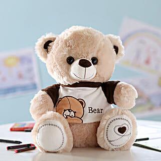 Cuddly Teddy Bear With T-Shirt: Send Soft Toys