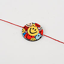 Cute Colorful Smiley Rakhi: Rakhi to Nidadavole