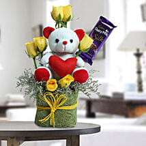 Cute Teddy Surprise: Valentines Day Gift Hampers
