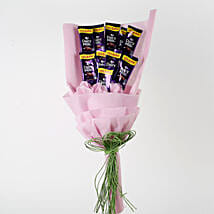 Dairy Milk Chocolates Pink Paper Bouquet: Chocolate Bouquet for New Year