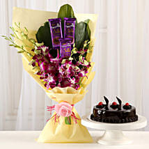 Dairy Milk & Orchids With Truffle Cake: Cake Combos