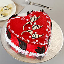 Decorated Red Heart Cake: Cakes to Bijnor