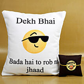 Dekh Bhai Rakhi And Cushion Combo: Rakhi With Cushions
