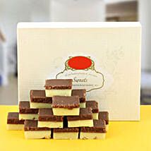 Delectable Chocolate Burfi: Send Rakhi to Nidadavole