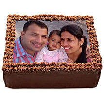 Delicious Chocolate Photo Cake: birthday cake with photo