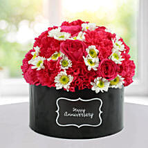 Delightful Floral Arrangement: Flowers for Anniversary