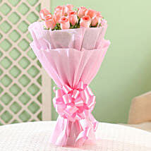 Elegance - Pink Roses Bouquet: Send Valentine Roses for Girlfriend
