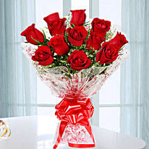 Emotions- Beautiful 12 Red Roses Bouquet: Flowers to Farah