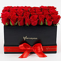 Ravishing 40 Red Roses Box Arrangement: Premium & Exclusive Gift Collection
