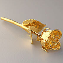 Engraved Golden Valentine Rose: Flowers to Kiccha