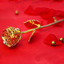 Engraved Golden Valentine Rose: Send Flowers to Jhabua