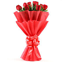Enigmatic Red Roses Bouquet: Send Personalised Rakhi