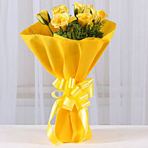 Enticing Yellow Roses Bouquet: Send Roses to Ahmedabad