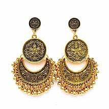 Ethnic Gold Ghungroo Earrings: Women's Accessories