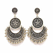 Ethnic Silver Ghungroo Earrings: Accessories for Her