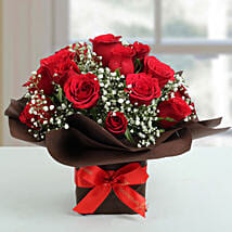 Exotic Red Roses Arrangement: Send Flowers to Bangalore