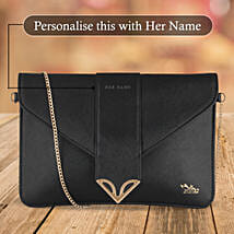 Fashionable Black Sling Bag: Personalised gifts for anniversary